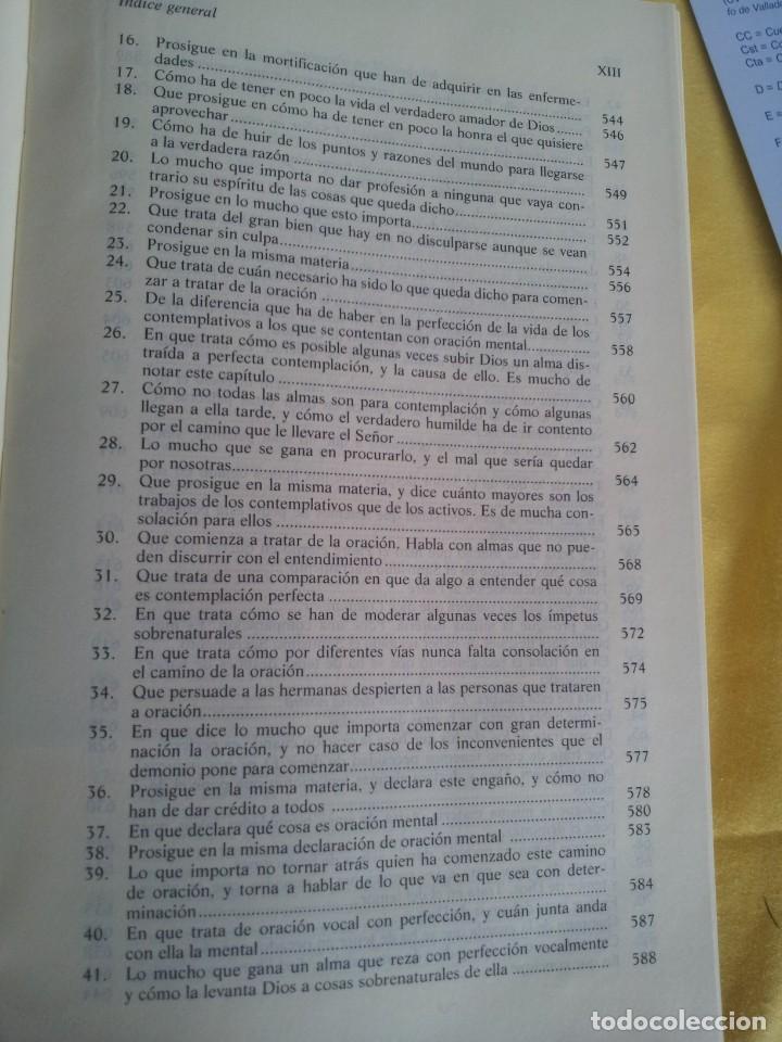 Libros de segunda mano: SANTA TERESA DE JESUS - OBRAS COMPLETAS - 5ª EDICION, EDITORIAL DE ESPIRITUALIDAD 2000 - Foto 10 - 220929238