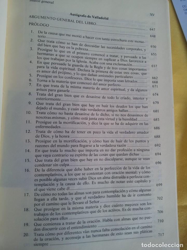 Libros de segunda mano: SANTA TERESA DE JESUS - OBRAS COMPLETAS - 5ª EDICION, EDITORIAL DE ESPIRITUALIDAD 2000 - Foto 12 - 220929238
