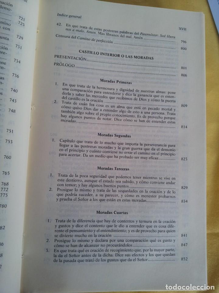 Libros de segunda mano: SANTA TERESA DE JESUS - OBRAS COMPLETAS - 5ª EDICION, EDITORIAL DE ESPIRITUALIDAD 2000 - Foto 14 - 220929238