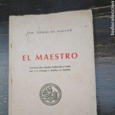 Libros de segunda mano: EL MAESTRO. TOMAS DE AQUINO, STO. UNIVERSIDAD DE VALENCIA. 1976. Lote 222124982