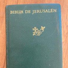 Libros de segunda mano: BIBLIA DE JERUSALEN - DESCLEE DE BROUWER - 1967. Lote 222625705