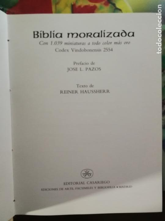 Libros de segunda mano: BIBLIA MORALIZADA - EDITORIAL CASARIEGO - Foto 5 - 222730351
