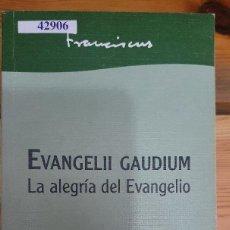 Libros de segunda mano: 42906 - EVANGELII GAUDIUM - LA ALEGRIA DEL EVANGELIO - EDITORIAL SAN PABLO - AÑO 2013. Lote 222799762