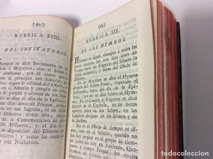 Libros de segunda mano: BREVE INSTRUCCIÓN DE LAS RÚBRICAS GENERALES DEL BREVIARIO ROMANO Y MODO DE ORDENADOR EL OFICIO, 1794 - Foto 3 - 223999083