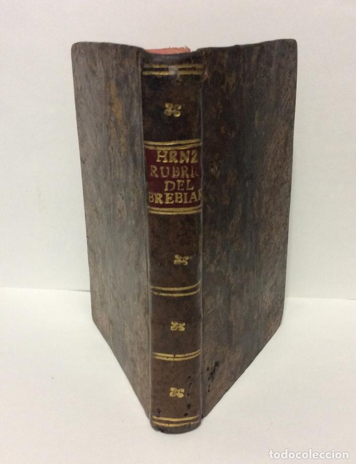 BREVE INSTRUCCIÓN DE LAS RÚBRICAS GENERALES DEL BREVIARIO ROMANO Y MODO DE ORDENADOR EL OFICIO, 1794 (Libros de Segunda Mano - Religión)