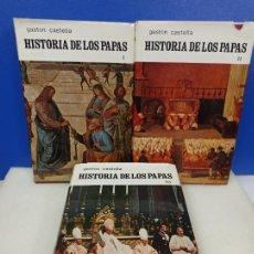 Libros de segunda mano: LOTE 3 LIBROS OBRA COMPLETA HISTORIA DE LOS PAPAS GASTON CASTELLA. Lote 224222113
