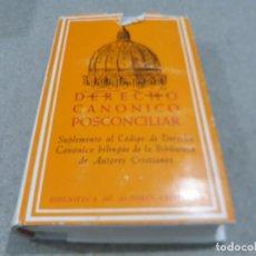 Libros de segunda mano: RELIGION....DERECHO CANONICO POSCONCILIAR.......1972.......... Lote 224223533