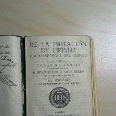 Libros de segunda mano: DE LA IMITACIÓN DE CRISTO - TOMÁS DE KEMPIS - 1942. Lote 223453653
