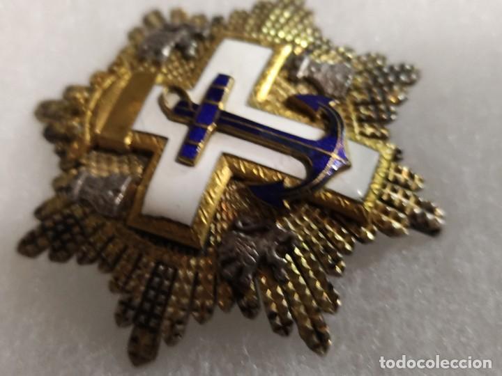 Libros de segunda mano: Placa Gran cruz del mérito naval fabricación de Egańa - Foto 3 - 225167515