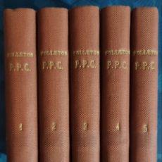 Libros de segunda mano: COLECCION DE 5 TOMOS DE FOLLETOS PPC. PUBLICACION CATOLICA TEMAS RELIGIOSOS Y SOCIALES. AÑOS 50. Lote 227774450