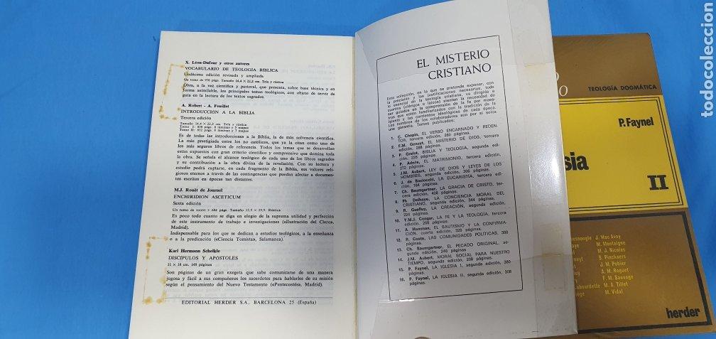 Libros de segunda mano: EL MISTERIO CRISTIANO - LA IGLESIA I y II - TEOLOGÍA DOGMÁTICA - EDITORIAL HERDER - Foto 4 - 227813360