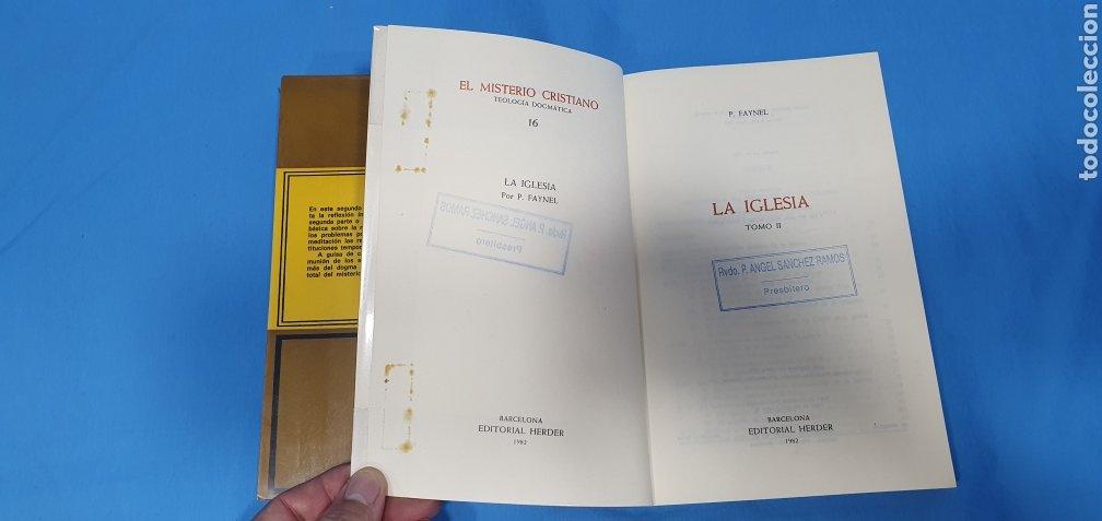 Libros de segunda mano: EL MISTERIO CRISTIANO - LA IGLESIA I y II - TEOLOGÍA DOGMÁTICA - EDITORIAL HERDER - Foto 6 - 227813360