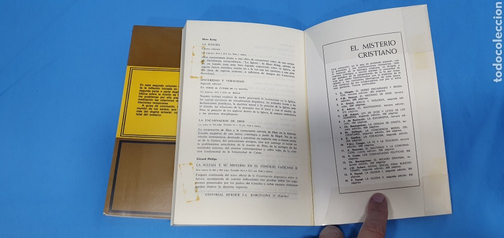 Libros de segunda mano: EL MISTERIO CRISTIANO - LA IGLESIA I y II - TEOLOGÍA DOGMÁTICA - EDITORIAL HERDER - Foto 7 - 227813360