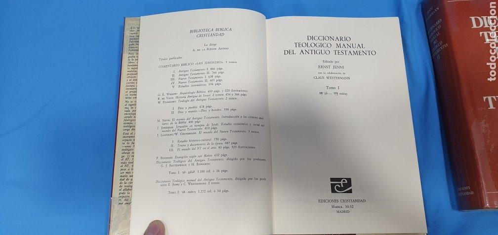 Libros de segunda mano: DICCIONARIO TEOLÓGICO MANUAL DEL ANTIGUO TESTAMENTO I y II - EDICIONES CRISTIANDAD - Foto 3 - 227815350