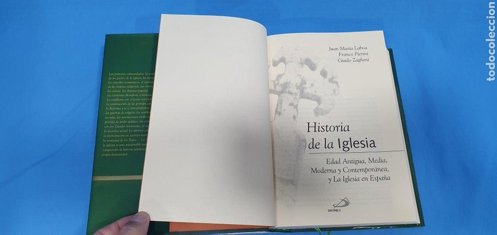 Libros de segunda mano: HISTORIA DE LA IGLESIA - EDAD ANTIGUA, MEDIA, MODERNA Y CONTEMPORÁNEA - EDICIONES SAN PABLO - Foto 3 - 227816800