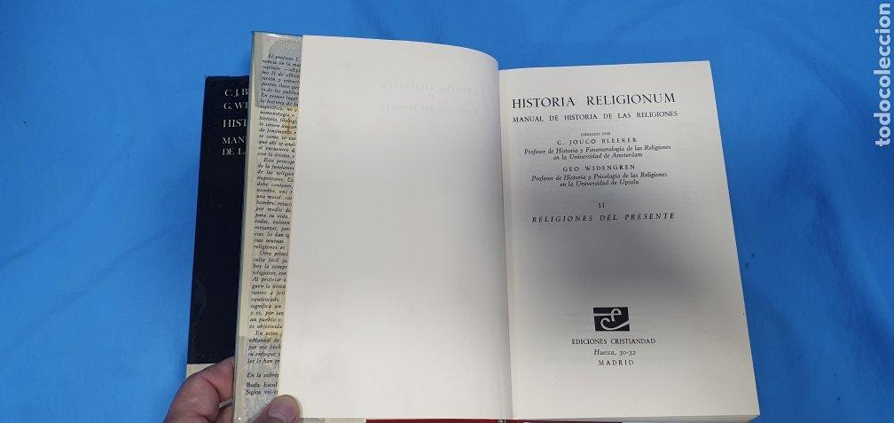 Libros de segunda mano: HISTORIA RELIGIONUM - RELIGIONES DEL PASADO I y II - EDICIONES CRISTIANDAD - Foto 5 - 227826780