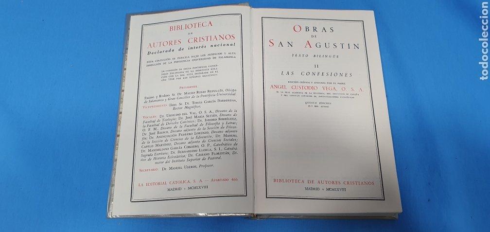 Libros de segunda mano: OBRAS DE SAN AGUSTÍN - II LAS CONFESIONES - BIBLIOTECA DE AUTORES CRISTIANOS - MADRID - MCMLXVIII - Foto 2 - 227976975