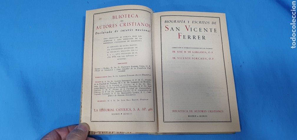 Libros de segunda mano: SAN VICENTE FERRER - BIOGRAFÍA Y ESCRITOS - B. A. C. 153 SECCIÓN V - HISTORIA Y HAGIOGRAFÍA - Foto 2 - 227978240