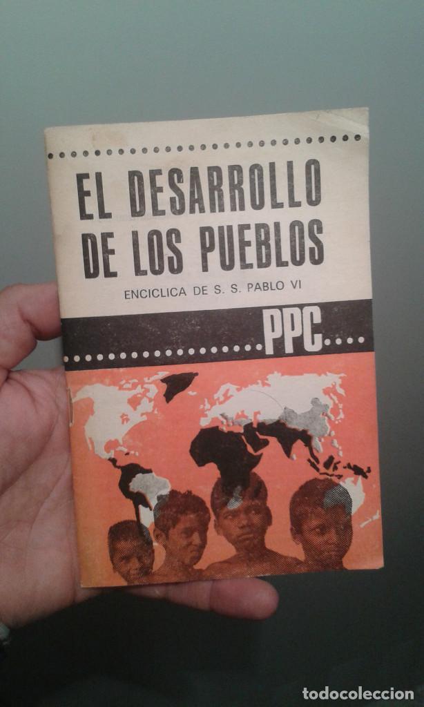 EL DESARROLLO DE LOS PUEBLOS ENCICLICA DE SS. PAULO VI Nº295-296 ABRIL 1967 (Libros de Segunda Mano - Religión)