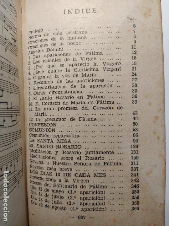Libros de segunda mano: AURAS DE FÁTIMA DEVOCIONARIO COMPLETO DE LA VIRGEN APARECIDA - LUIS RIBERA - COCULSA 1949 - Foto 7 - 207850012