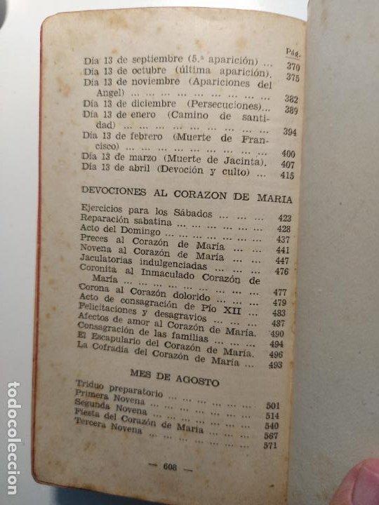 Libros de segunda mano: AURAS DE FÁTIMA DEVOCIONARIO COMPLETO DE LA VIRGEN APARECIDA - LUIS RIBERA - COCULSA 1949 - Foto 8 - 207850012