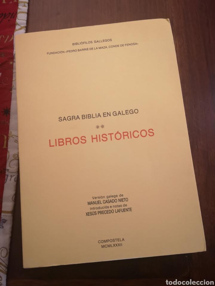 Libros de segunda mano: Sagrada Biblia en Galego (Gallego) Libros Históricos 1982 primera edición - Foto 10 - 229720275