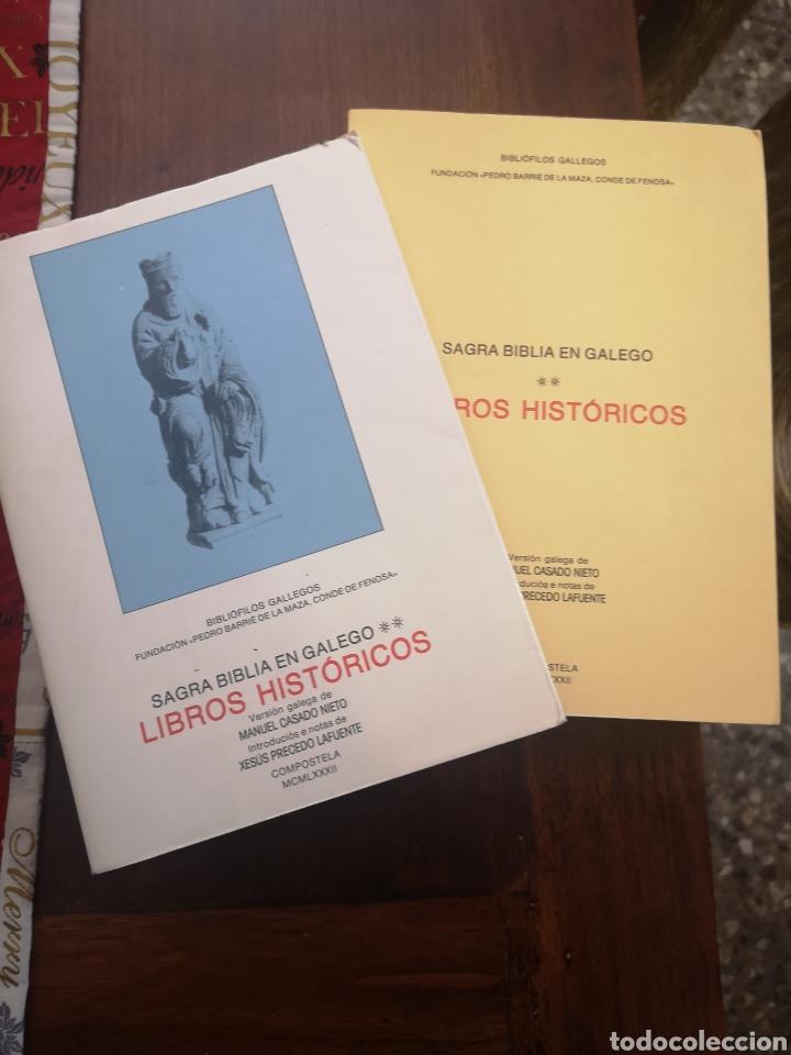 Libros de segunda mano: Sagrada Biblia en Galego (Gallego) Libros Históricos 1982 primera edición - Foto 12 - 229720275
