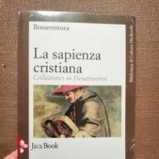 Libros de segunda mano: LA SAPIENZA CRISTIANA. BONAVENTURA.. Lote 229843905