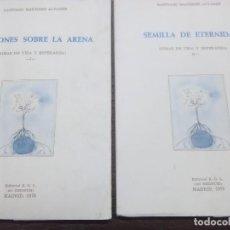 Libros de segunda mano: CANCIONES SOBRE LA ARENA Y SEMILLAS DE ETERNIDAD. S. MARTÍNEZ. 1979.. Lote 229924420