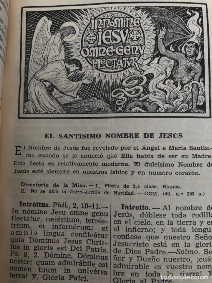Libros de segunda mano: Misal diario latino-español devocionario en piel 1961 - Foto 5 - 230827645