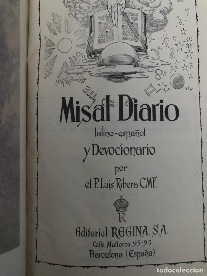 MISAL DIARIO LATINO-ESPAÑOL DEVOCIONARIO EN PIEL 1961 (Libros de Segunda Mano - Religión)
