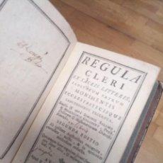 Libros de segunda mano: ANTIGUO LIBRO REGULA CLERO 1757. Lote 231390790