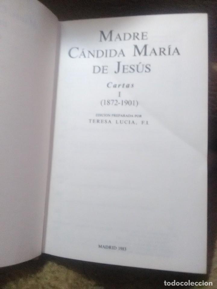 Libros de segunda mano: Madre Cándida María de Jesús. Cartas. (2 vol.) BAC (Fuera de colección). 1983. - Foto 2 - 231609130