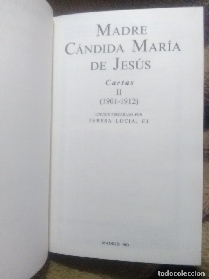 Libros de segunda mano: Madre Cándida María de Jesús. Cartas. (2 vol.) BAC (Fuera de colección). 1983. - Foto 3 - 231609130