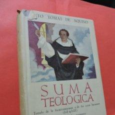 Libri di seconda mano: SUMA TEOLÓGICA IV. SANTO TOMÁS DE AQUINO. EDITA LA BIBLIOTECA DE AUTORES CRISTIANOS BAC. MADRID 1954. Lote 232249320