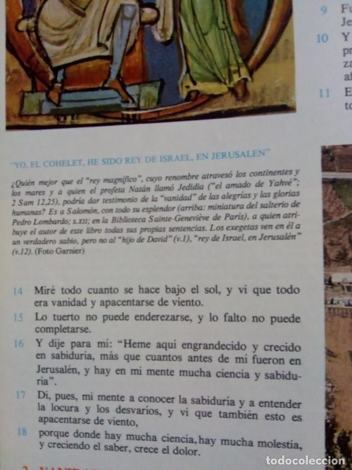 Libros de segunda mano: La Biblia. Tomos I, II, III y IV: Antiguo Testamento. Tomos I y II: Nuevo Testamento. RMT77047. - Foto 3 - 62991716