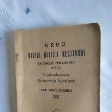 Libros de segunda mano: DIVINO OFICIO RECITANDI. Lote 232686055