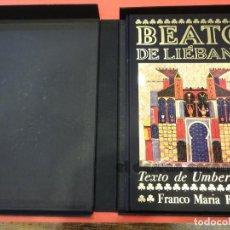 Libros de segunda mano: BEATO DE LIÉBANA. EDICIÓN LUJO LIMITADA Y NUMERADA. FRANCO M. RICCI. PRÓLOGO UMBERTO ECO. Lote 233700445