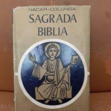 Libros de segunda mano: LIBRO SAGRADA BIBLIA (NACAR-COLUNGA) 1.9976. Lote 234453455