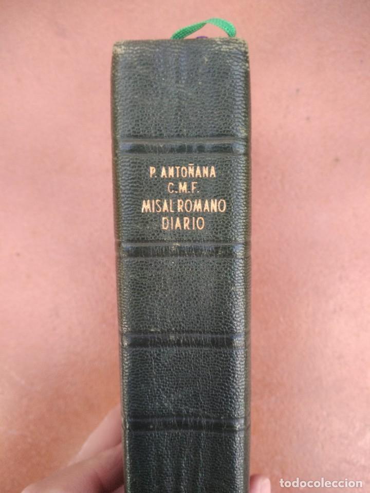 ANTIGUO MISAL P. ANTOÑANA MISAL ROMANO DIARIO (Libros de Segunda Mano - Religión)