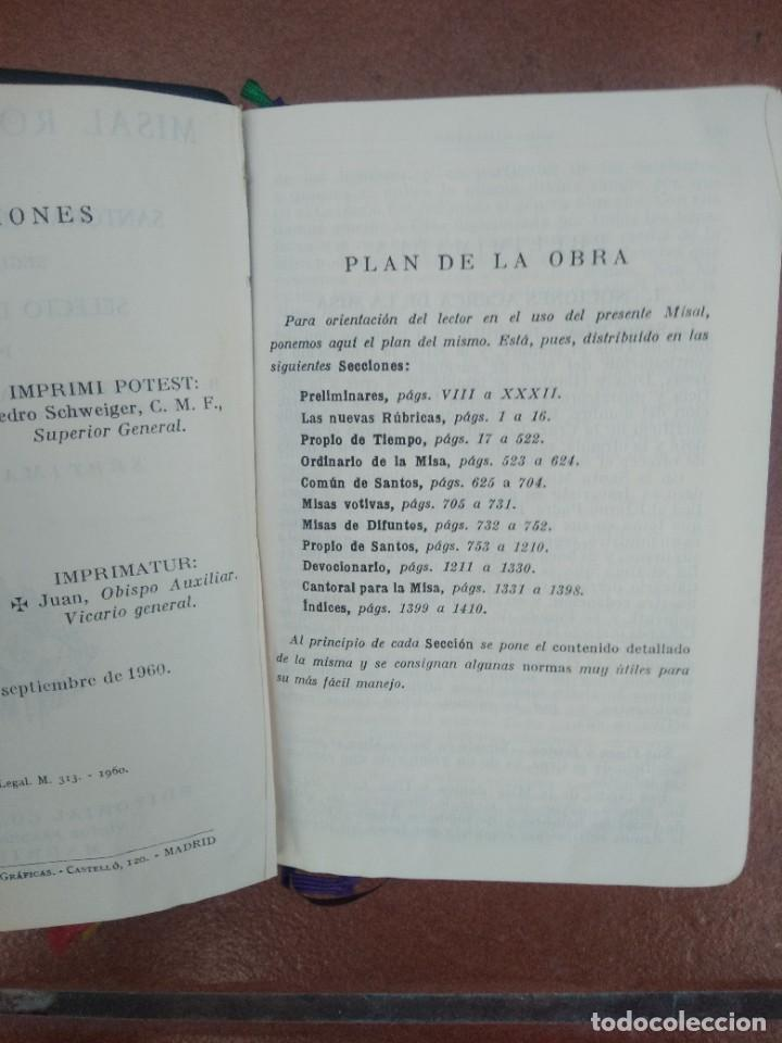 Libros de segunda mano: Antiguo misal p. antoñana misal romano diario - Foto 3 - 235284275