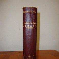 Libros de segunda mano: SAGRADA BIBLIA. VERSIÓN NACA-COLUNGA - BIBLIOTECA DE AUTORES CRISTIANOS, 1958, PLENA PIEL. Lote 235400145
