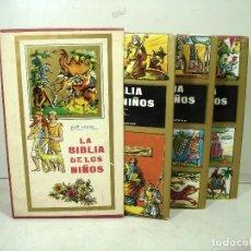 Libros de segunda mano: LA BIBLIA DE LOS NIÑOS -PIET WORM PLAZA & JANES 1973 3ª EDICION- 3 LIBROS TOMOS -CUBIERTAS -LIBRO. Lote 236098820