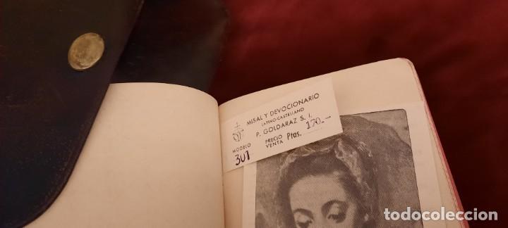 Libros de segunda mano: MISAL Y DEVOCIONARIO CON SU FUNDA DE CUERO - Foto 10 - 236436400