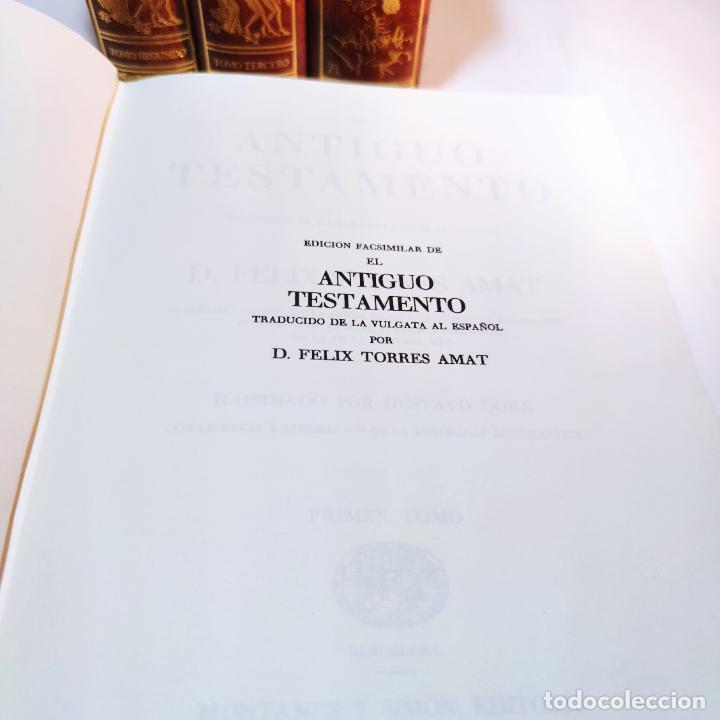 Libros de segunda mano: El antiguo y nuevo testamento. Traducido de la Vulgata por D. Feliz Torres Amat. Ed. Bibliófilos. - Foto 5 - 236549235
