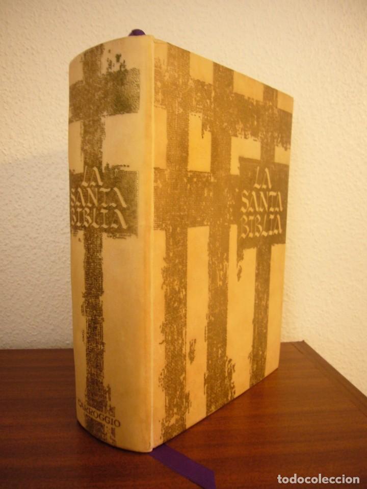 LA SANTA BIBLIA. VERSIÓN BARTINA-ROQUER (CARROGGIO, 1981) RARA ED. DE LUJO ILUSTR. REMBRANDT Y DALÍ (Libros de Segunda Mano - Religión)