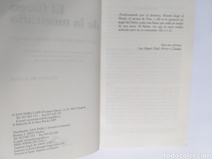 Libros de segunda mano: El fuego de la montaña. Siete conversos para nuestro tiempo. Papini Edith Stein Chesterton Gra - Foto 7 - 236594775