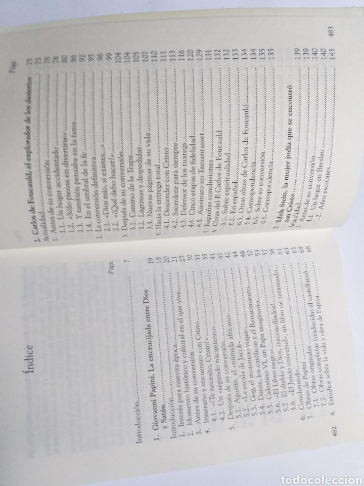 Libros de segunda mano: El fuego de la montaña. Siete conversos para nuestro tiempo. Papini Edith Stein Chesterton Gra - Foto 9 - 236594775