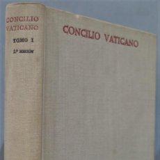 Libros de segunda mano: 1965.- CONCILIO VATICANO II. COMENTARIOS SAGRADA LITURGIA. B.A.C. TOMO I. Lote 236815430
