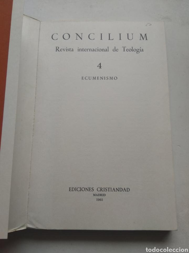 Libros de segunda mano: CONCILIUM ECUMENISMO 4/REVISTA INTERNACIONAL DE TEOLOGÍA - Foto 2 - 237020440